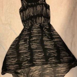 Brown and black high low dress